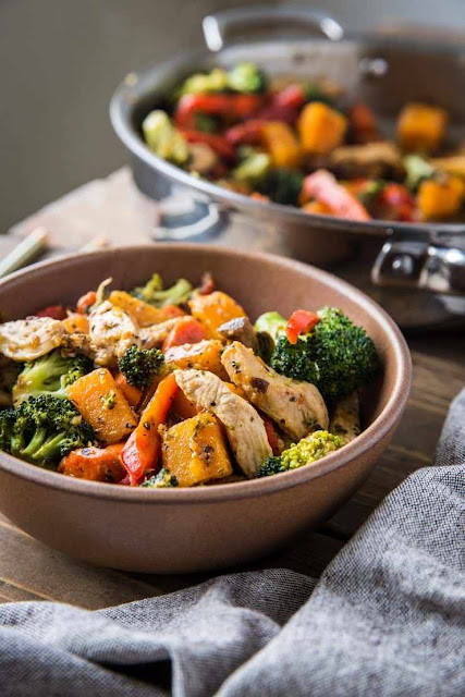 Butternut Squash Chicken Ginger Stir Fry | The Roasted Root
