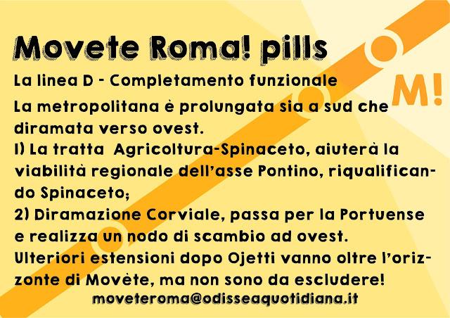 Movète Roma Pillola, numero 9, Il completamento della metro D