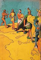 História do Mundo para as crianças. Monteiro Lobato. Editora Brasiliense. Augustus (Augusto Mendes da Silva). Contracapa de Livro. Década de 1950. Década de 1960.