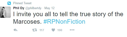 RPNonFiction: Martial Law History Lessons in Twitter
