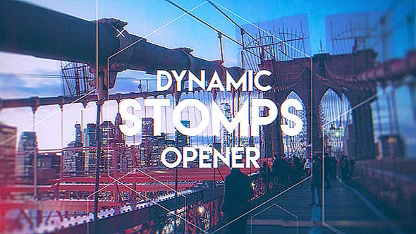 Dynamic Stomps Opener | After Effects Template