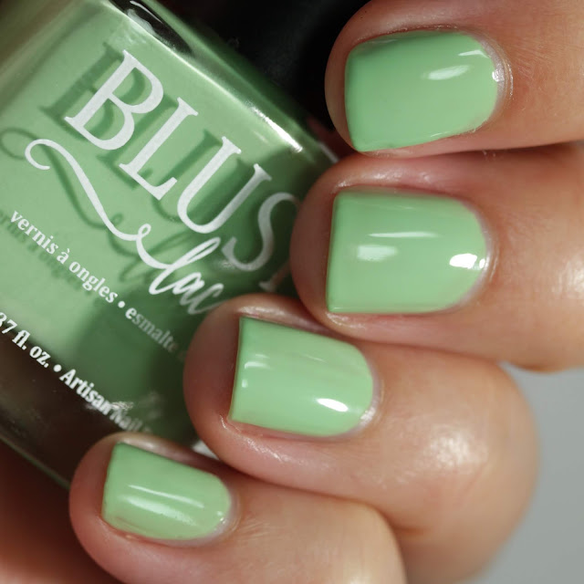 BLUSH Lacquers Eucalyptus Mint swatch by Streets Ahead Style