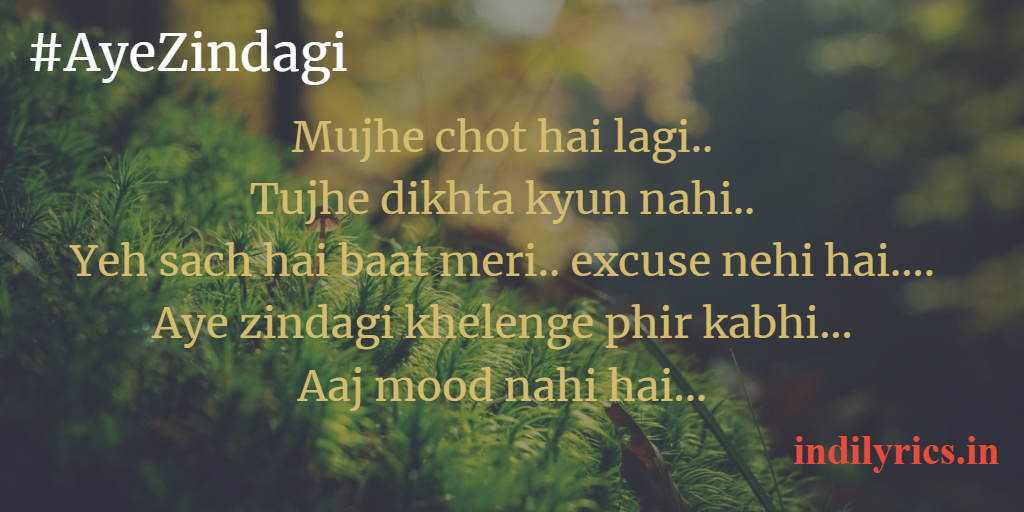 Aye Zindagi Lyrics - Apsara | Asha Bhosle,Talat Mahmood