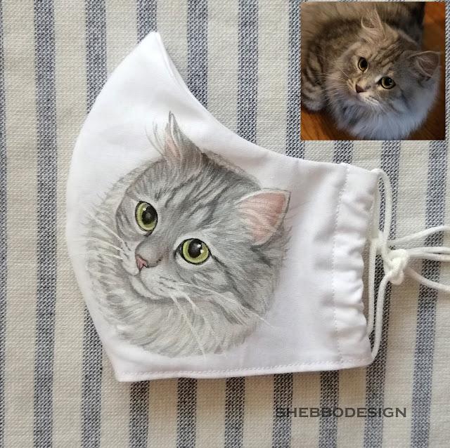 custom cat face mask