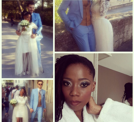 mORE WEDDING PICTURES OF TOSYN BUCKNOR IN FRANCE