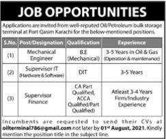 JOBS | Oil Petroleum Bulk Storage Terminal at Port Qasim Karachi