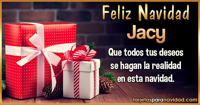 Feliz Navidad Jacy