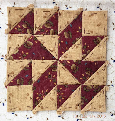 Dear Jane Quilt - Block G2 Mohawk Trail