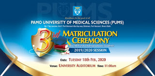 PUMS 3rd Matriculation & 1st Founders' Day Celebration 2019/2020