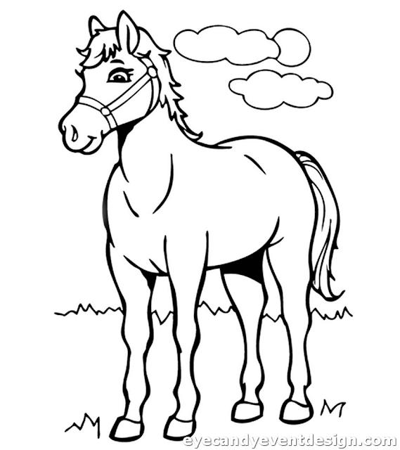Ausmalbilder Mit Pferden