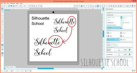Silhouette Studio, Windows computer, font characters, glyphs, Silhouette tutorial
