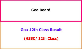 Goa 12th Class Exam Results 2021