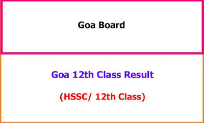 Goa 12th Class Exam Results