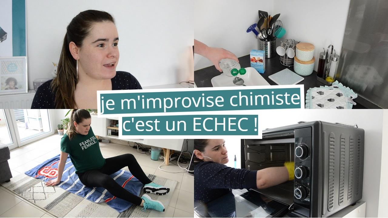 vlog sport nettoyage electromenagers de la cuisine four et micro ondes je m'improvise chimiste et c'est un echec