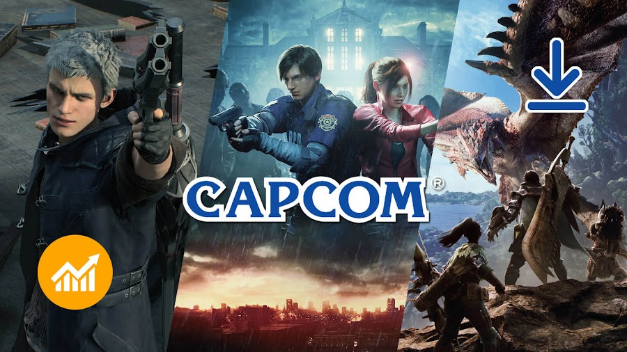 capcom double profits digital downloads devil may cry 5 resident evil 2 monster hunter world