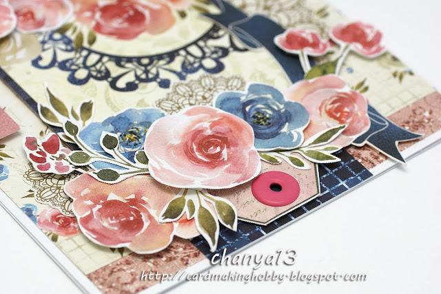 kwiaty wycięte z zestawu Craft O'clock