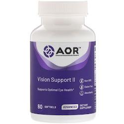 Advanced Orthomolecular Research AOR, Vision Support II, 60 мягких таблеток