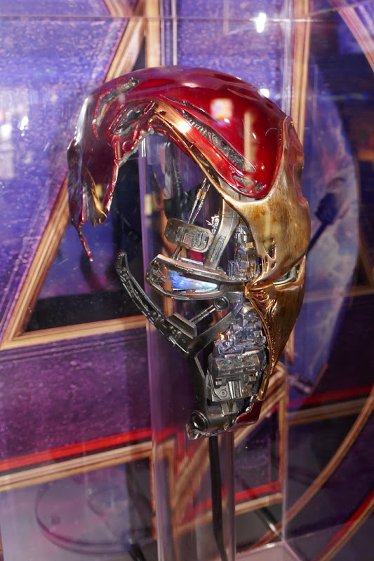 Damaged Iron Man Mark 50 helmet Avengers Endgame