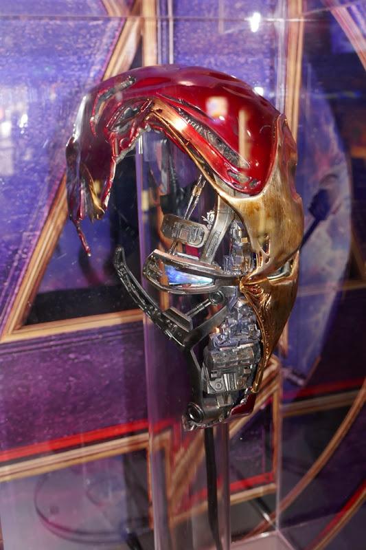Damaged Iron Man Mark 50 helmet Avengers Endgame