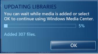 Hướng dẫn cập nhật thư viện cho Windows Media Center Windows 7