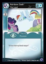 My Little Pony Rainbow Dash, The Loyal Primer Deck CCG Card