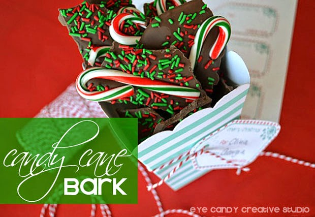 candy cane bark, holiday baking, chocolate bark recipe