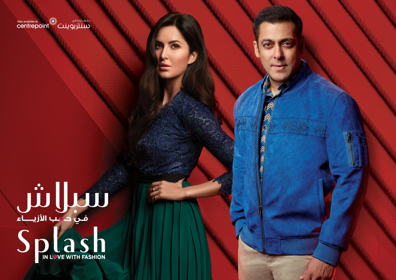 Katrina Kaif with Salman Khan for Splash Autumn Winter Wear 2016