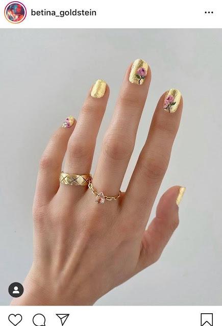 مانيكير الذهب