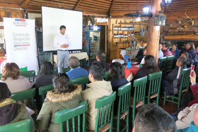 SERCOTEC brinda jornadas para emprendedores locales
