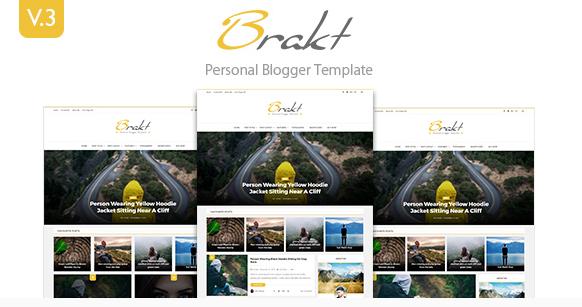 Brakt v5.0 – Responsive Personal Blogger Template
