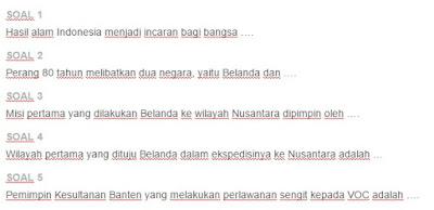 Contoh Soal Perlawanan Rakyat Banten