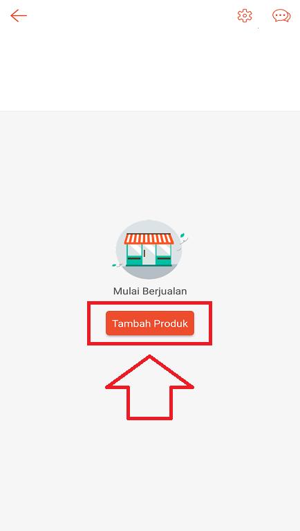 Memulai Upload Photo Produk di Toko Aplikasi Shopee Melalui Smartphone.