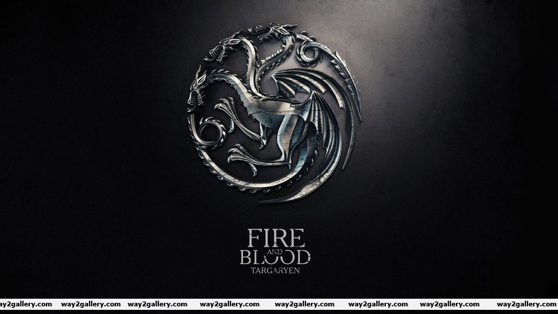 Fire and blood wallpaper