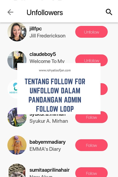 akun follow loop