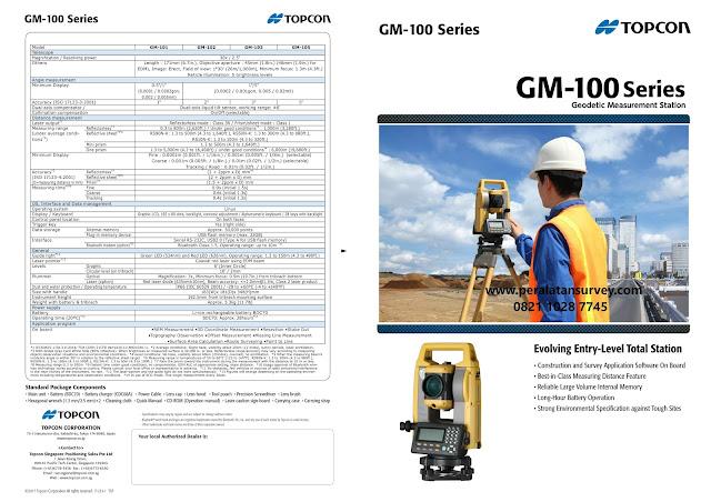 Brosur Total Station Topcon GM-100 GM-103 GM-105 Series