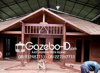 Gazebo Rumah Kayu Glugu Jepara