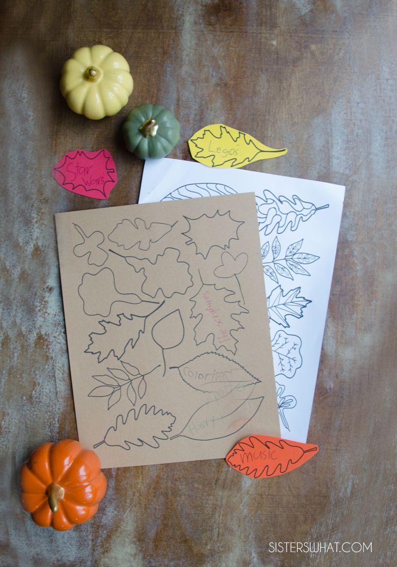 printable thanksgiving leaves coloring pages
