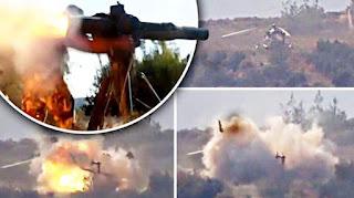 Allahu Akbar! Helikopter Rezim Syiah Nushairiyah Ditembak Jatuh