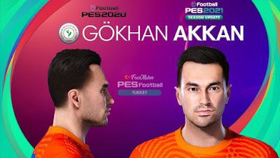 PES 2021 Faces Gokhan Akkan by PES Football Turkey