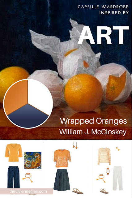 How to Build a Capsule Wardrobe by Starting with Art: Wrapped Oranges by William J. McCloskey