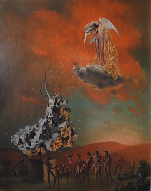 Jan Van der Loo surrealism Dalí angels