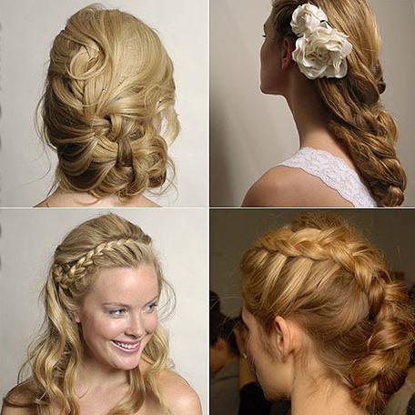 peluqueria y peinados tendencias moda cabello peinado con trenzas cosidas e imágenes