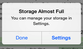 storage almost full on iphone runner12 my solution for the quot storage almost quot error 1484