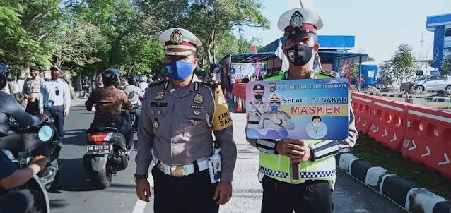Hari Ketiga Operasi Patuh Gatarin Polda NTB , Jumlah Laka Lantas Turun 50%