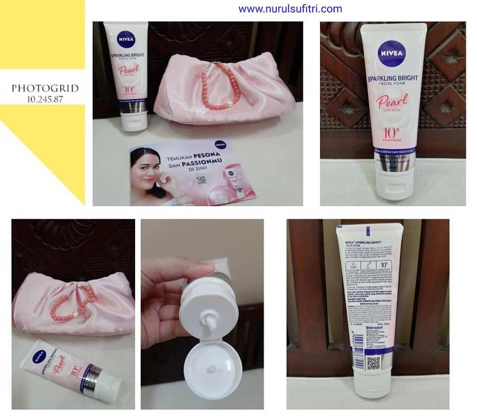 review tips membersihkan wajah agar glowing bagai mutiara dengan nivea sparkling bright facial foam nurul sufitri