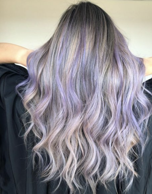 lavender hair highlights 2020