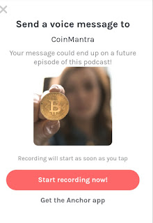 CoinMantra, Podcasting, Cryptocurrency, voice message,