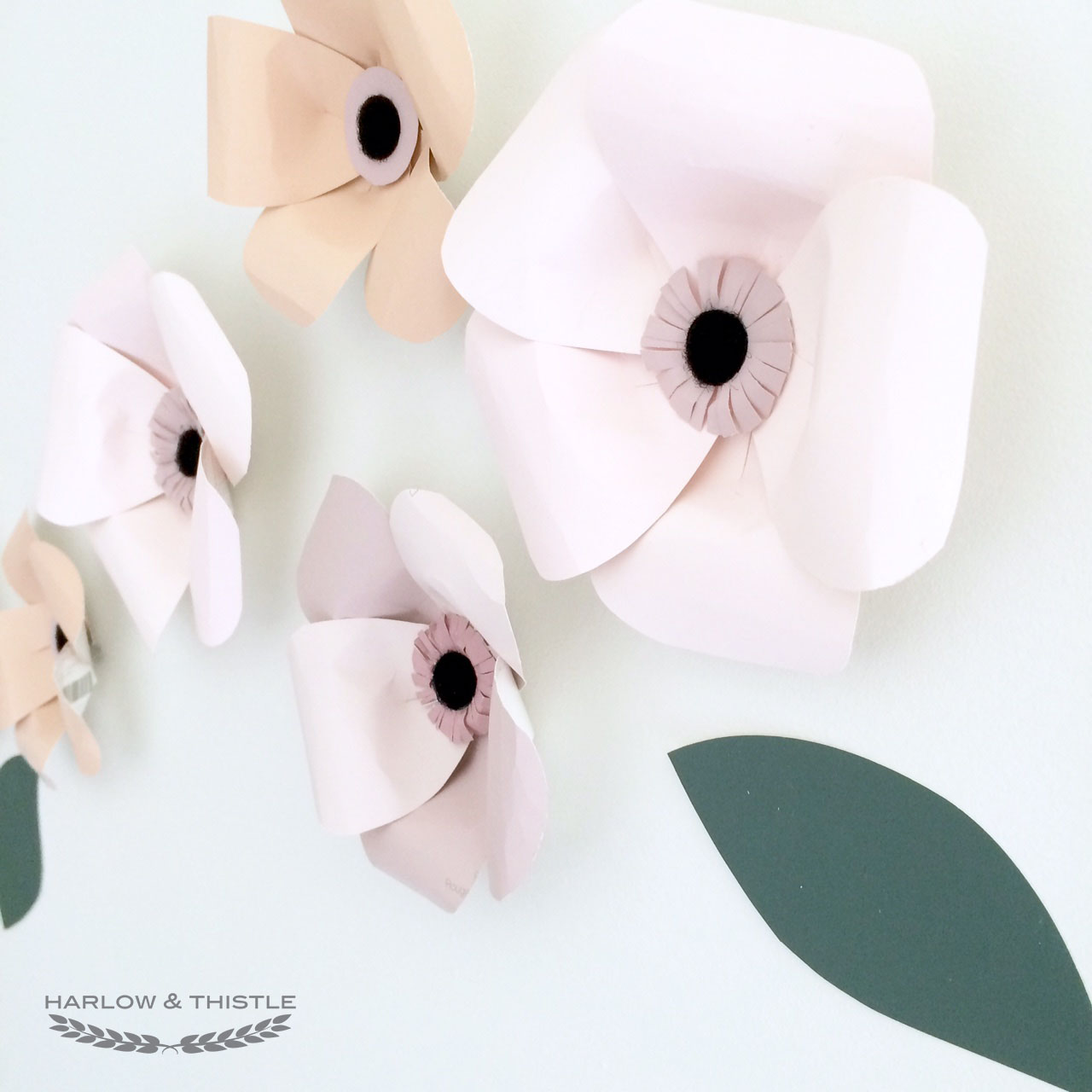 Diy Paper Flowers From Paint Chips Harlow Thistle Home Design