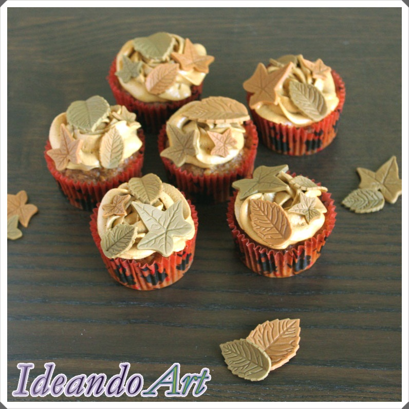 Cupcakes zanahoria hojas