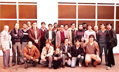 Equipo de ajedrez del C. C. Sant Andreu en 1982